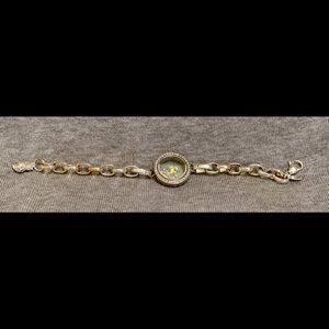 Origami owl silver living locket bracelet